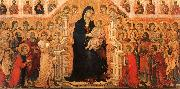 Duccio di Buoninsegna Madonna and Child Enthroned with Angels and Saints oil painting artist